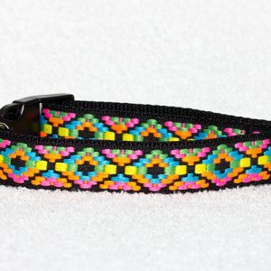 vrolijke halsband hond - halsbanden hond handgemaakt – handgemaakte hondenhalsbanden
