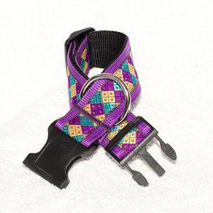 gekleurde halsbanden nylon - halsbanden hond handgemaakt – handgemaakte hondenhalsbanden