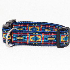 blauwe halsband hond - halsbanden hond handgemaakt – blauwe hondenhalsband blauw